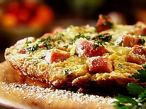 Monday's Leftovers: Ham, Gruyere and Caramelized Onion Frittata