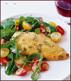 Fast & Easy Dinner: Parmesan-Crusted Chicken with Arugula Salad