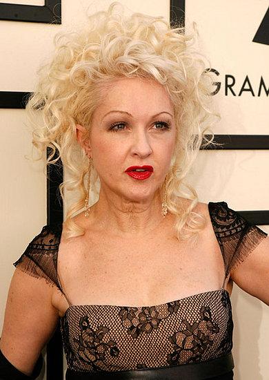 Cyndi Lauper's Hair and Makeup at the 2008 Grammys