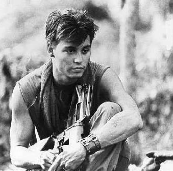 Johnny Depp Platoon Movie Stills! How More Hot Can He Get?
