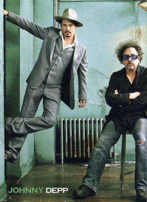 Magazine Scans of Johnny Depp & Tim Burton