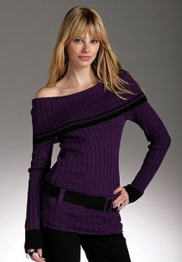 Justsweet by JLo: Off Shoulder Sweater W/ Belt