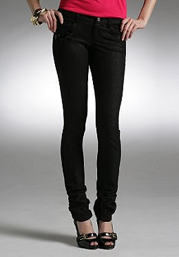Justsweet by JLo: Skinny Pant W/ Ankle Rouching