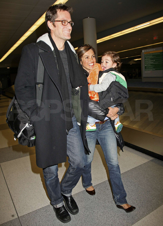 Mariska Hargitay with son August and husband Peter Hermann.