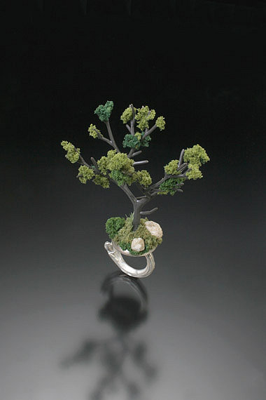 Sarah Hood, jewelry artist :: Jewelry :: Landscape :: Summer Tree Ring