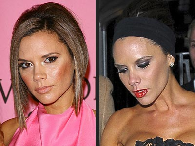 VICTORIA BECKHAM: NUDE LIPS OR RED LIPS
