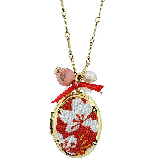 As Seen in Lucky Mag ! Kimono Wrap Locket