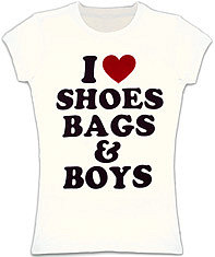i heart shoes, bags & boys tee