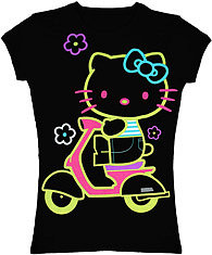 neon Hello Kitty tee