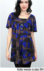 boho button smock dress