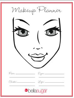 Free makeup planner chart