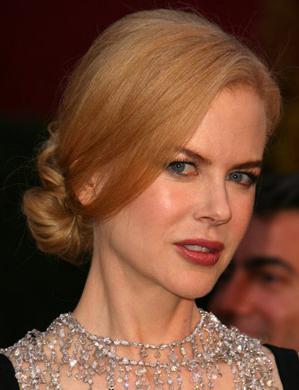 Nicole Kidman at the Oscars: hair and makeup