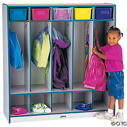 Coat Locker, 5-Section With Step - Storage