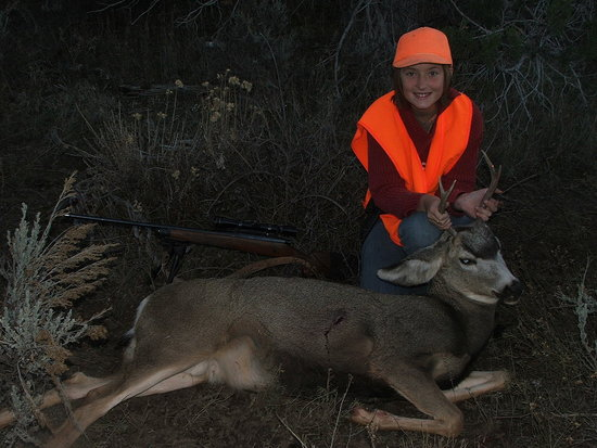 Daughters first buck at 12.