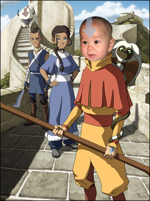 Jack as Aang the Airbender