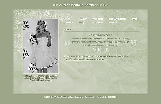 Fab Site: TheVintageWeddingDressCompany.com