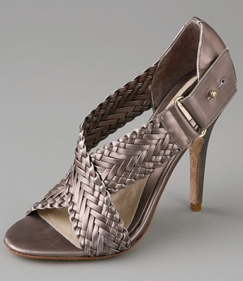 Double The Look For Less: L.A.M.B. Bronze Woven Gala Sandals