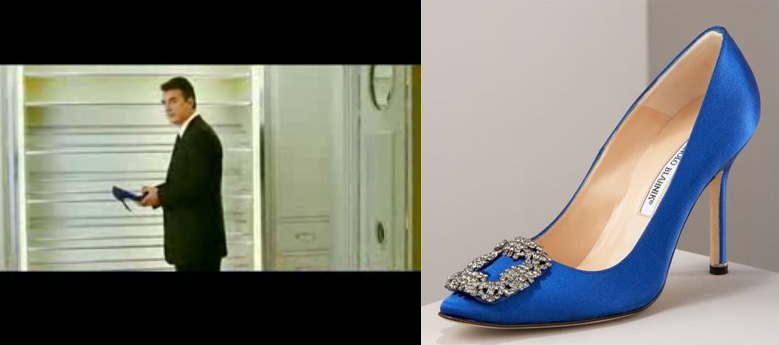 Carrie Bradshaw S Blue Shoes Brand