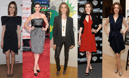 Which Anne Hathaway Get Smart Look Is Most Fab?
