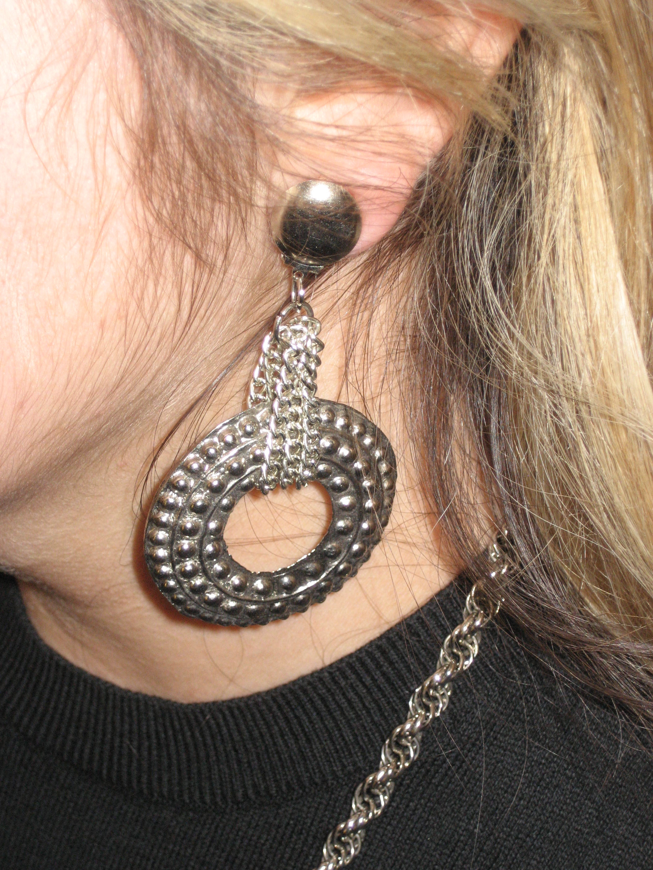 The fierce earrings my friend purchased.