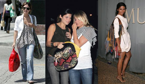 Rachel Bilson, Lake Bell, and Camila Alves Carrying Exotic Handbags