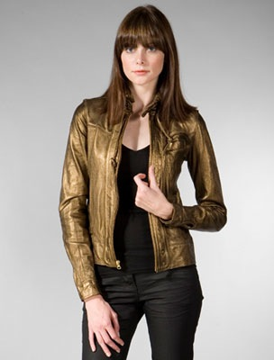 The Look For Less: Mike & Chris Dusted Bronze Leather Jacket