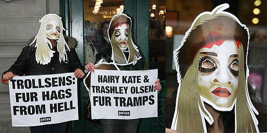 Freaky or Fabulous? PETA Protests the Olsen Book Signing