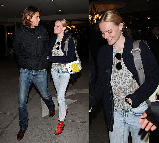 Kate Bosworth Hangs Out at The Grove in Chloe Bag and Red Shoes