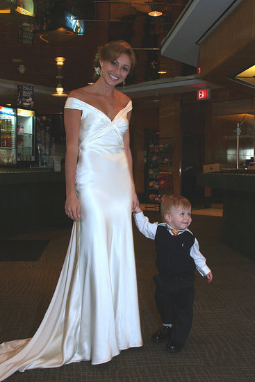 Bride and ring-bearer nephew.