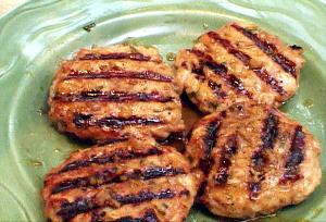 Tuna Burgers With Pineapple-Mustard Glaze