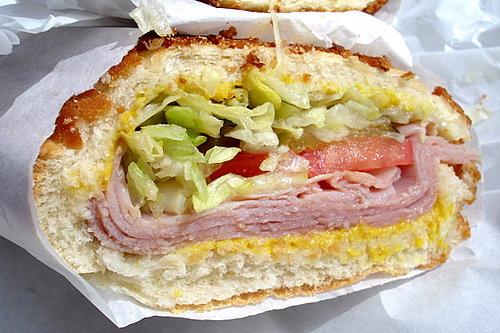 Ham and Swiss on Dutch Crunch
