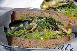 White Anchovy and Egg Sandwich