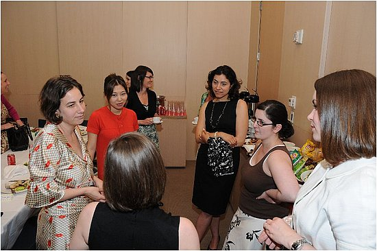 Wedding Bloggers luncheon hosted by Brides.com at the Conde Nast building in NYC!