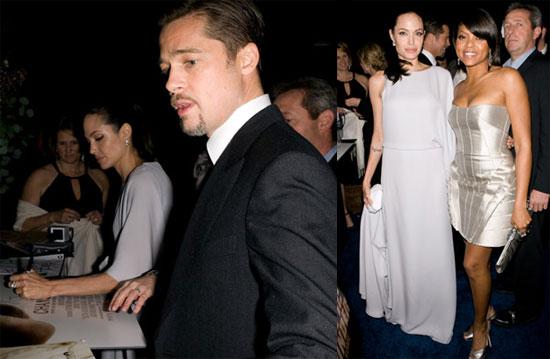 Photos of Brad Pitt and Angelina Jolie at the 2009 Critics ...