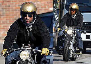Brad Pitt Goes For a Ride