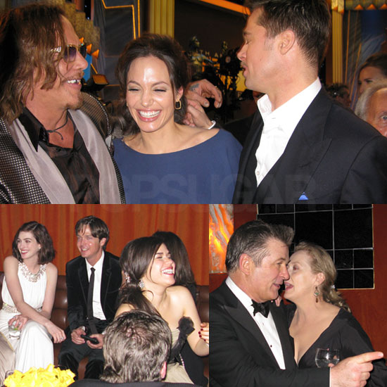 Photos of Brad Pitt, Angelina Jolie, Anne Hathaway, America Ferrera, Meryl Streep, Alec Baldwin at SAG After Party