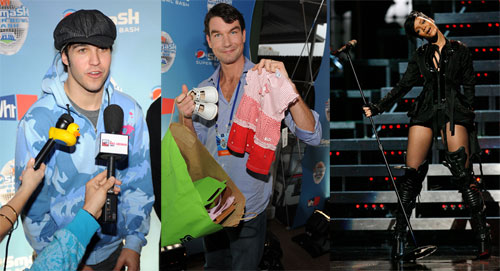 Photos of Pete Wentz, Jerry O'Connell, Rihanna at NFL Pepsi Smash Super Bowl Concert