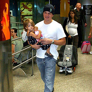 Matt and Isabella Damon Arrive in Miami