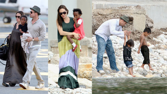 The Jolie-Pitts Invade the South of France!
