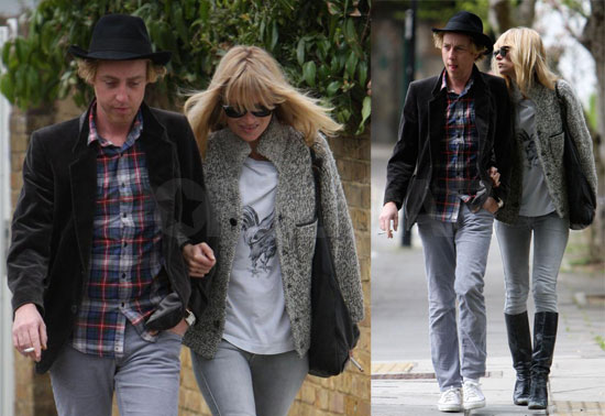 Kate Moss and James Brown Walk to the Pub