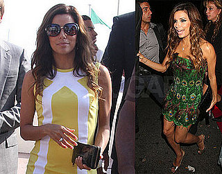 Eva Longoria Wears A Peacock Dress At The Cannes Film Festival