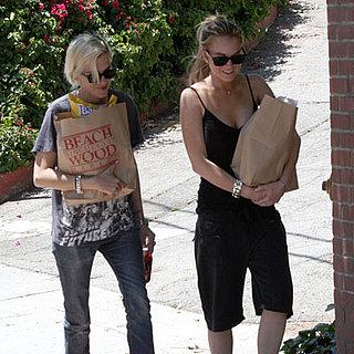 Lindsay Lohan and Samantha Ronson Buy Groceries