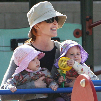 Marcia Cross Takes Her Twins to the Park
