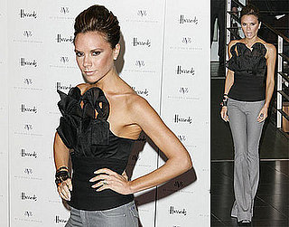 Victoria Beckham Promotes dVb at Harrods in London