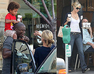 Heidi and Seal Have a Jr. Coffee Drinker on Their Hands