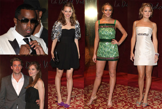 Images of Dolce and Gabanna Party With Lindsay Lohan, Diddy, Kate Husdon