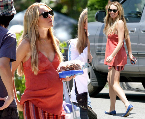 Lindsay Lohan Pregnant on Set of Labor Pains