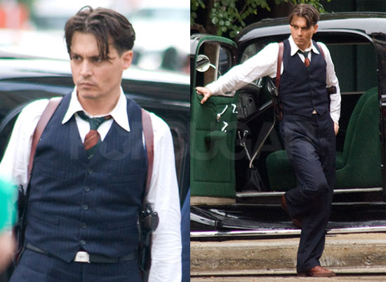 Photos of Johnny Depp on the Set of Public Enemies 2008-06-10 16:30:00