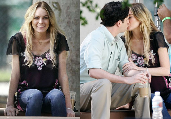 Photos of Lindsay Lohan Kissing her Costar From Labor Pains