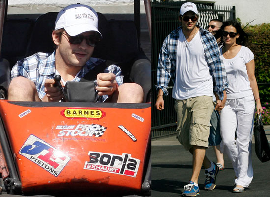 Photos of Ashton Kutcher and Demi Moore in Go Karts